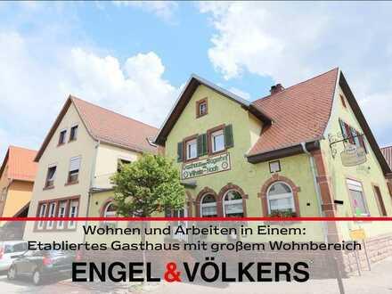 Wohnen und Arbeiten in Einem: Etabliertes Gasthaus mit großem Wohnbereich