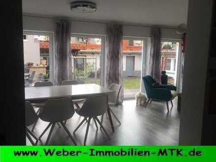 Im HERZEN Hattersheims im 3 FH, kern-SANIERT in 2016 mit TERRASSE in RUHIG-er Wohnlage, PROV.-FREI