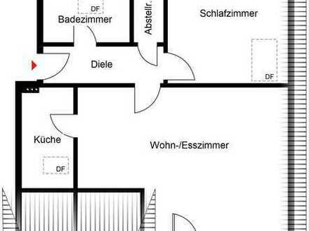 Köln-Worringen: Helle 2 Zimmer-Dachgeschoss-Wohnung mit Balkon und Stellplatz