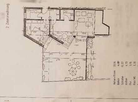 Stilvolle, geräumige und gepflegte 2-Zimmer-Wohnung in Würzburg mit ca 100m2 Dachterrasse