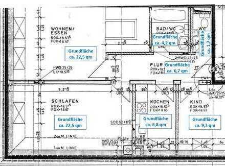 WG-taugliche, zentral gelegene, helle 3 Zimmer-Wohnung