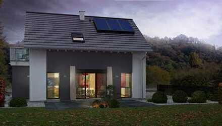 Einfamilienhaus mit Bodenplatte und realem Grundstück