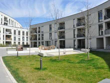 """""""Gleisharfe"""" Aubing: 3-Zimmer-Neubau-Wohnung mit  2 Bädern, Loggia,  TG-Stellplatz für Elektroauto"""