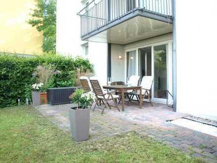 Moderne Wohnung mit Garten und Carportstellplatz