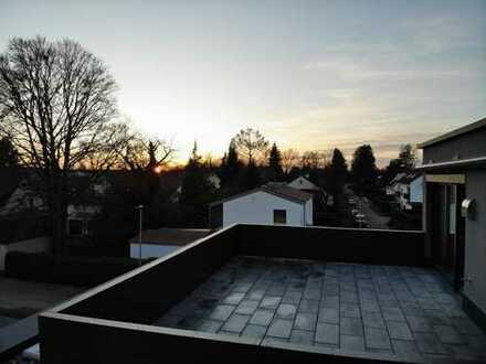 Neubau-Penthouse mit herrlicher Dachterrasse und Blick ins Grüne