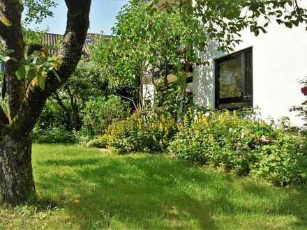 Souterrain-Wohnung in Ortsrandlage mit direktem Zugang zum Garten