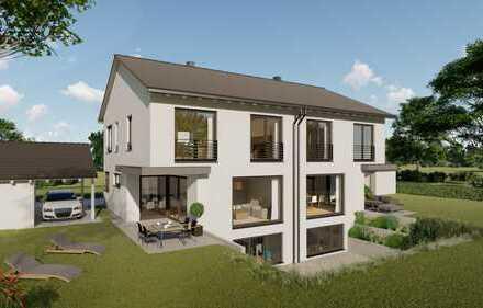 Neubau eines Doppelhauses in Bonstetten