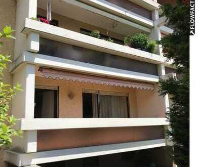 **BEVORZUGTE WOHNLAGE** 2 Zimmer-Erdgeschoss-Wohnung mit Süd-Loggia-Balkon