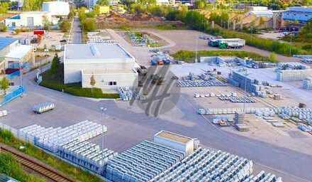 TOP-LAGE ✓ NÄHE BAB 5 ✓ 24/7-NUTZUNG ✓ Freilager (15.000 m²) & Werkstatthalle (500 m²) zu vermieten