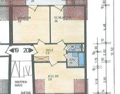 2-ZKB-DG-Wohnung mit Balkon im Zentrum von Landau langfristig zu vermieten