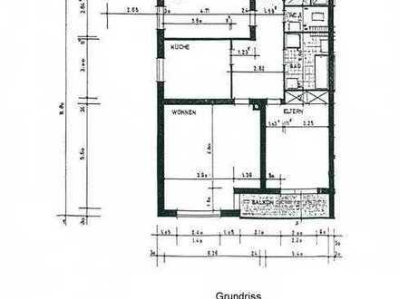 Gut aufgeteilte 3-Zimmerwohnung mit Sonnenbalkon - solide Kapitalanlage oder spätere Selbstnutzung