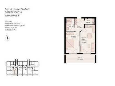 komfortable, barrierefreie 2-Zimmer-Wohnung in der Beletage
