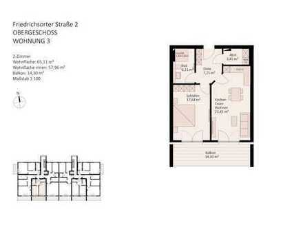 komfortable, barrierearme 2-Zimmer-Wohnung in der Beletage