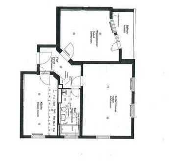 Bahnhofs-/Bismarckviertel * zentrale Lage * komplett neu saniert * große 2 Zi.-Whg. * 84 m²