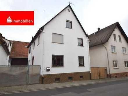 Einfamilienhaus mit großer Scheune in Habitzheim