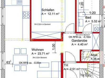 Erstbezug: 2-Zimmer-EG-Wohnung mit EBK und Garten in Waal
