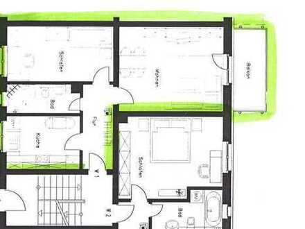 Gemütliche 2 Zimmer Wohnung mit Balkon und Badewanne