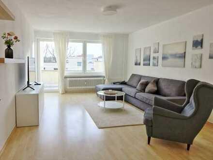 möblierte, sanierte 3-Zimmerwohnung mit Balkon und EBK am Fritz-Schloß-Park