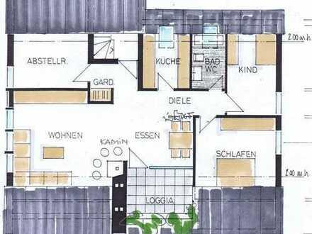 Gepflegte 4,5-Zimmer-DG-Wohnung mit Balkon und EBK in Lauchringen