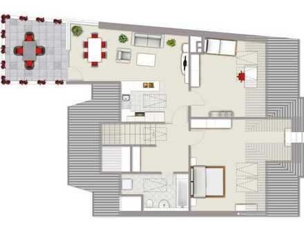 Unwiederbringliche Lage, 3-Zimmer Penthouse über den Dächern von Bautzen mit 30qm Dachterrasse!