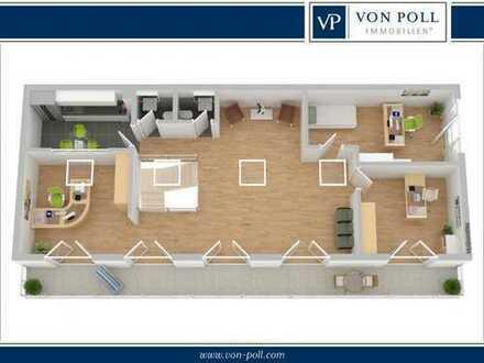 Bielefeld-Mitte: 207 m² Maisionette-Bürofläche in TOP-Lage am Landgericht