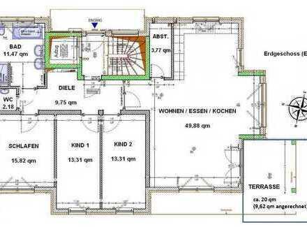 Erstbezug: freundliche 4,5-Zimmer-Erdgeschosswohnung mit EBK und Terrasse/Garten in Nufringen