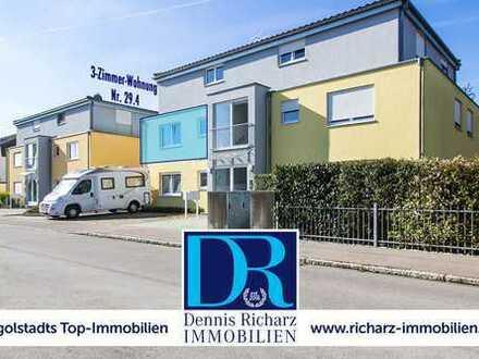 Süd-Balkon, Parkettböden & Einbauküche! Neuwertige 3-Zimmer-Wohnung in Ringsee!