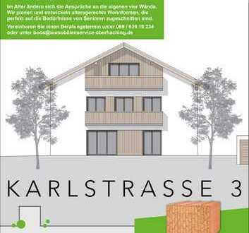 Hochwertiger, schöner & moderner Neubau im Herzen von Deisenhofen. Geeignet für die Generation 60 +