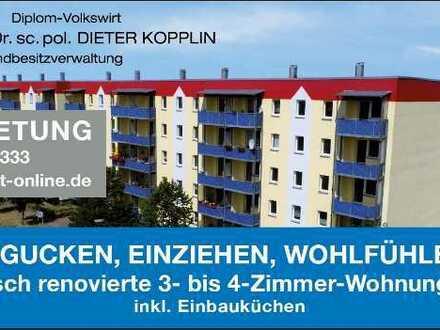 Frisch renovierte 3-Zimmer-Wohnnung mit EBK und Balkon