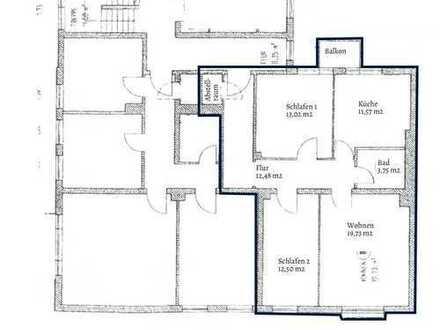 Attraktive 3-Zimmer Wohnung mit Balkon im Innenhof