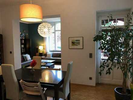 Perfektion in vier Wänden ! 4 Raumwohnung mit Garten und Balkon im beliebten Stadtteil Striesen!