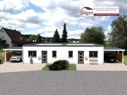 Doppelhaushälften mit Carport und Außenanlage KWF 55 gefördert in Windesheim