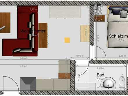 Gemütliche vollmöblierte 1,5 Zimmer Wohnung in guter Lage