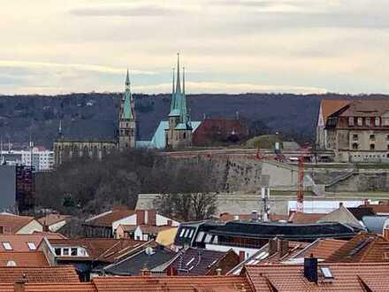 Zauberhafte Fernsicht, DG ETW in Erfurt, nördlich der Altstadt, neben der Uni, ruhige Seitenstraße