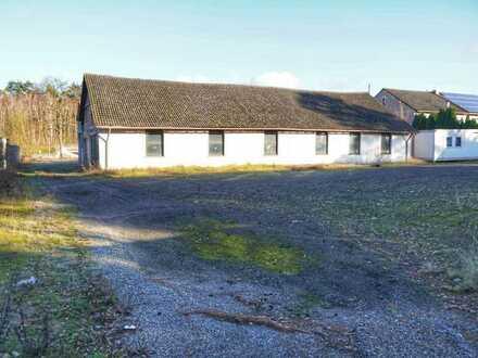 Lagerhallen auf 3200 m² Grundstück - Wohnen mit Gewerbe möglich