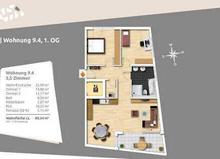 Klassisch geschnittene 3,5-Zi.-Wohnung mit großer Loggia
