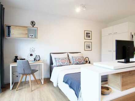 Erstklassig: Möbliertes Apartment mit Barrierefreiheit und Terrasse in zentraler Lage