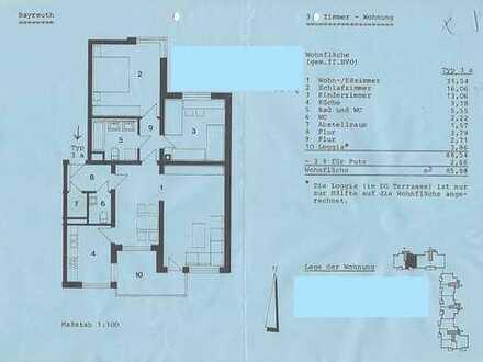 Vollständig renovierte 3,5-Zimmer-EG-Wohnung mit Terrasse und Gartenant. in Bayreuth (St. Georgen)