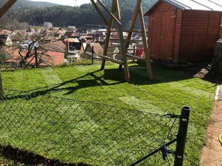 Schöne 2-Zimmer-Wohnung mit Terrasse und Garten sowie Einbauküche in Wilgartswiesen