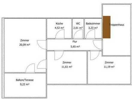 690 €, 63 m², 3 Zimmer