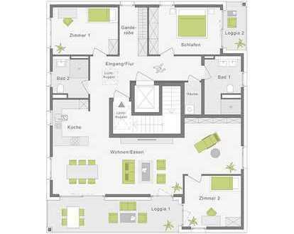 Ein Traum im Dachgeschoss mit 142 m²
