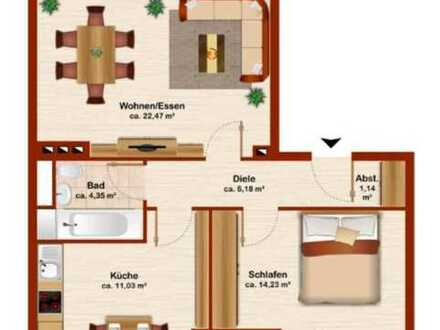 Preiswerte, modernisierte 2,5-Zimmer-Wohnung in Hattingen