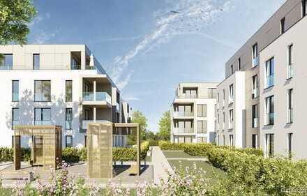 BETREUTES WOHNEN: Moderne 3-Zimmer-ETW mit eigenem Gartenanteil in Linkenheim-Hoch.