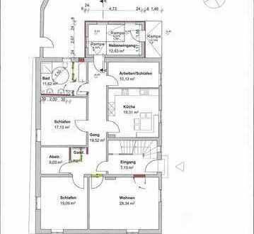Freundliche Grundsanierte 4,5-Zimmer-EG-Wohnung mit Einbauküche in Nördlingen