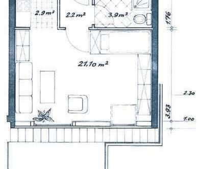 Attraktive, vollständig renovierte 1-Zimmer-Wohnung mit Küche, Bad und Tiefgarage in HB-Hemelingen.