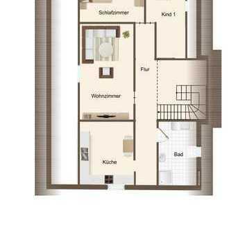 Geräumige Dachwohnung mit Küche - Erstbezug!