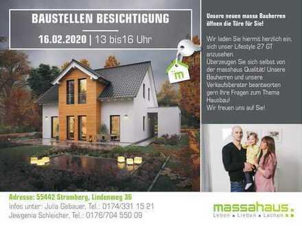 Baustellenbesichtigung am 16.02.2020 in 55442 Stromberg von 13-16 Uhr!