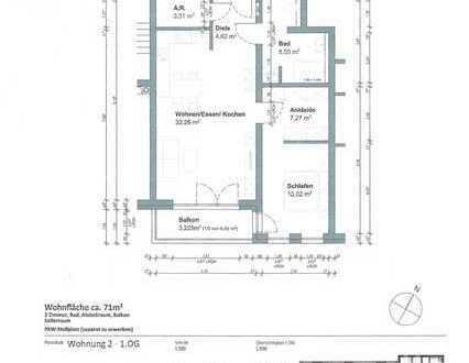 Neubau Erstbezug - 2 Zimmer mit Einbauküche und Balkon
