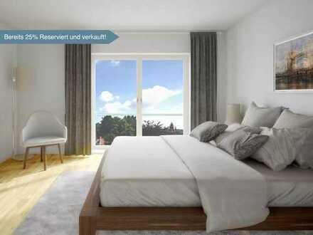 2 Zimmer, 70 m², Schlafzimmer mit Ankleide, 2 Abstellräume, Bad mit Wanne und Dusche, Sonnenterrasse