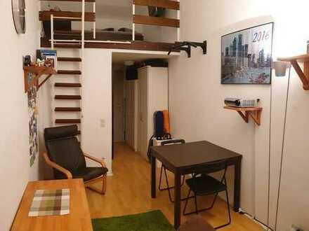 günstige, gepflegte Wohnung in ruhiger Lage, 30m², mit Balkon, unbefristet